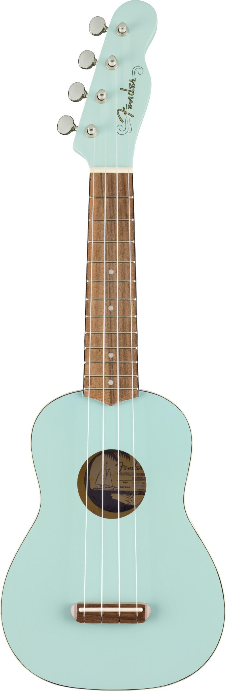 Fender - Venice Sopran Ukulele Daphne Blue - Gitarren - Ukulelen | MUSIK BERTRAM Deutschland Freiburg